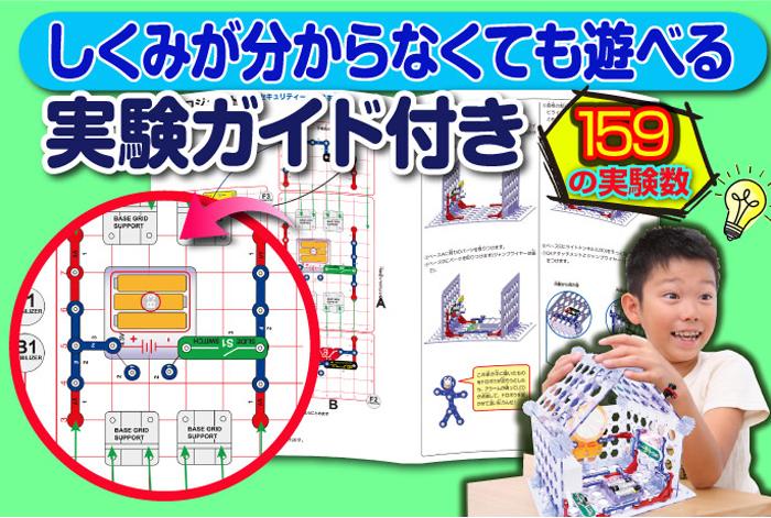 日本語ガイドで159通りの実験が楽しめる